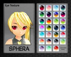 MMD Sphera Eye Texture by Xoriu