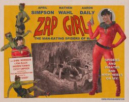 "Zap Girl ""B"" movie poster by TicTacFinger"