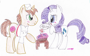 Rarity and Joe Will You Go Out With Me? by Lovelye