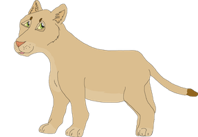 CLOSED-Lioness cub adoptable by Zari-Adoptables