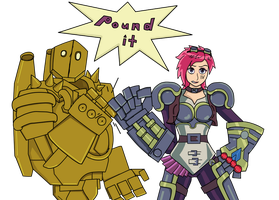 VI and Blitz by TheMaskofaFox