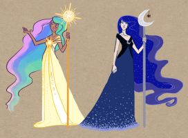 Request: Celestia + Luna Alone by SapphireKat