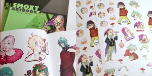 Artbook and stickers by Smoxt