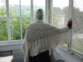 My Ancestress Shetland Hap Shawl by Threads-Of-Meaning