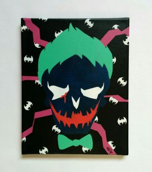 Breaking the Bat's reality - stencil on canvas by prometteu