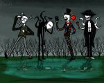Daily Drawing October Day21 - The Slendermen by DaSaurian