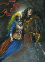 Arthur and Guinevere- fantasy by ScottAronow