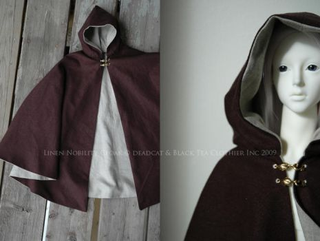 Linen Nobility Cloak by kyusai