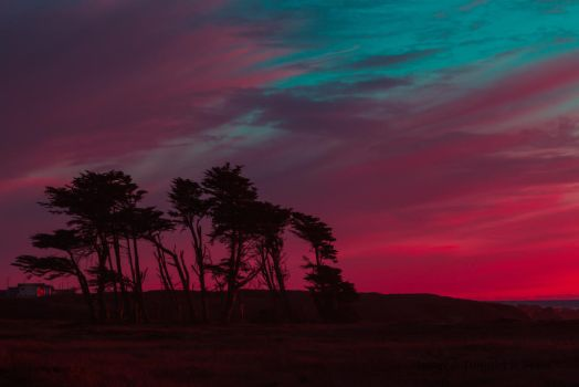 Red sunset - Fort Bragg - CA-2 by TKBeam
