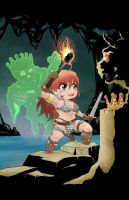 Chibi Red Sonja and the Mad King! by MichaelLinkJr