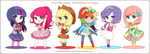 MLP- Friendship is Gijinka'd! by niaro