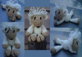 Mini kiss lamb collage by crochetamommy