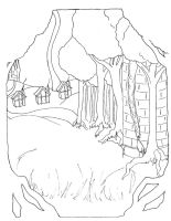 Into the Woods posterlineart1 by gowa