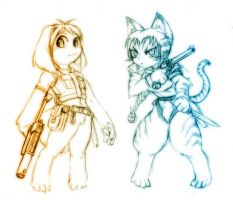 My furry characters by odaleex