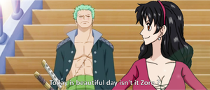 One Piece OC FS =ZoroXHeba= .:.Beautiful day.:. by Heba-Asawa