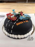 Cars - cake by Gwendelyn