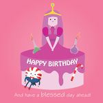 Princess Bubblegum Birthday Cake by TamamoMae