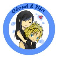 FF7 Couple - Cloud and Tifa by r3nisa