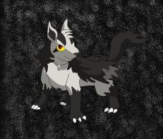 Chris as a Mightyena by SkyBlueArts