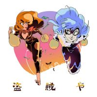 Fujiko Mine and Black Cat by AnthonyHolden