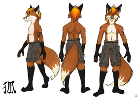 3 sided ref sheet by FoxInShadow
