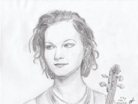 Hilary Hahn by paoulpolo