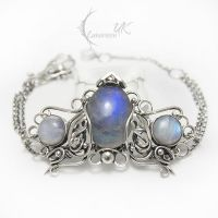 YHTMANTIEEL - silver and moonstone. by LUNARIEEN