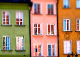 colourful houses.- by burcyna