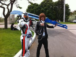 me cosplaying as shu ouma with kamen rider fourze by ashgundam