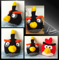 Black Angry Bird by SonARTic
