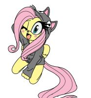 Fluttershy in a sonic from^^ by keopuolani