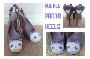 Purple Panda Stilettos by ponychops