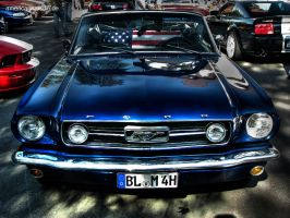 blue mustang convertible by AmericanMuscle