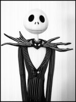 .Jack Skellington portrait. by dollmassacre