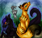 Languishing Garden Foxes by Dreamsickdev