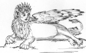 Crowned Sphinx Contemplates by NycterisA