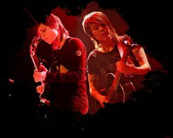 Tegan and Sara Rocking Out by MsNJS