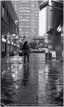 Walking in the Rain by Val-Faustino