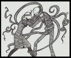 Slenderman vs Slenderwomen by Cageyshick05