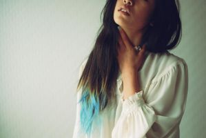 blue hair by momography