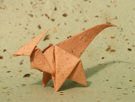 Origami Parasaurolophus by DonyaQuick