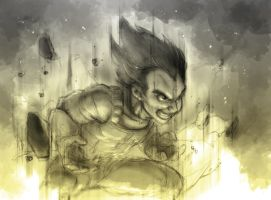 Vegeta powah by rakufordevian