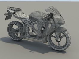 CBR600 '05 WiP - Wireframe by Th3-ProphetMan