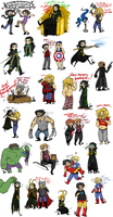 Avengers Sketch Dump 3 by Squidbiscuit