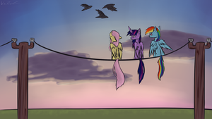 Ponies on a Wire by Nos-talgia