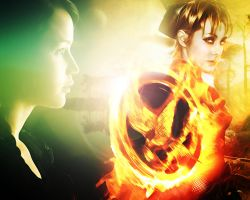The Hunger Games: Catching Fire. Katniss, Johanna by StalkerAE