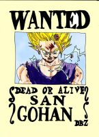 Wanted Son Gohan by zlizroswell