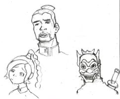avatar sketches by ImNotThere93