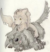 Moony and Padfoot puppies by Chewie-