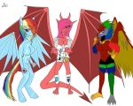 PSYCHO PIE, SPECTRUM DASH AND FEMALE GIGA-XIS COLO by DEVIOUS-DISCORD-RP